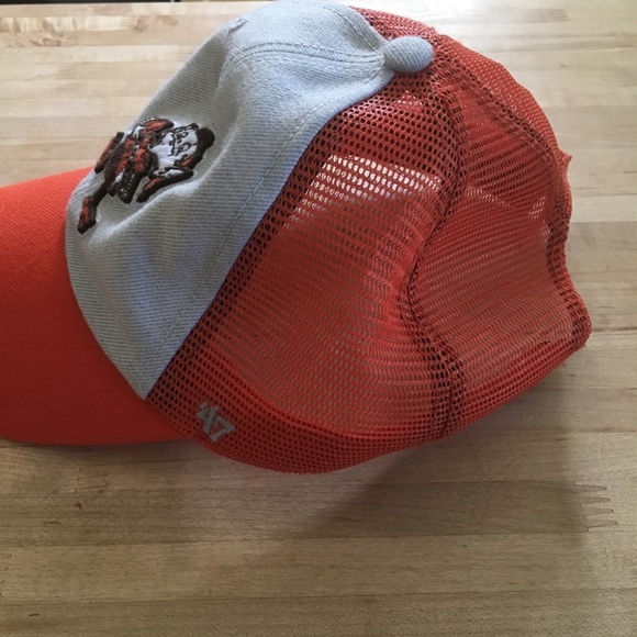 1e04871e Accessories | Cleveland Browns Elf Trucker Hat Missing Snap | Poshmark